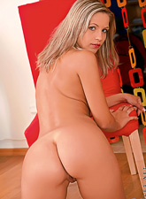 Jenni Gregg : Jenni Gregg takes her slutty white thongs off and shows us her amazing tight ass.